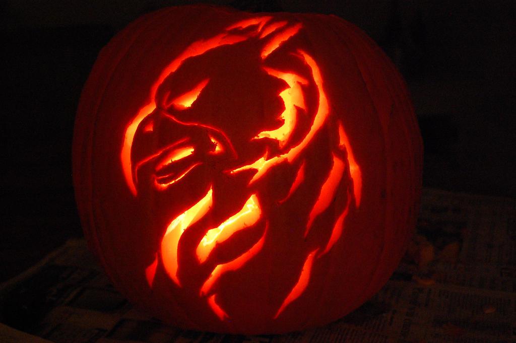 Gryphon pumpkin carving by silverkey on deviantart