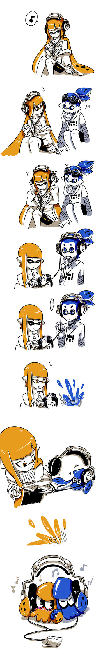 [Splatoon] Pudding and Donut little comic by zzoza