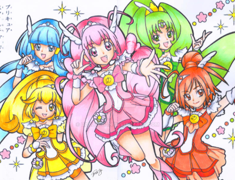 copic color smile precure by darlychan