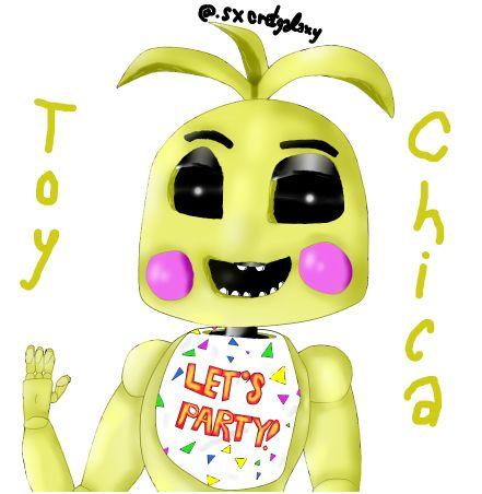 Fnaf toy chica fan art