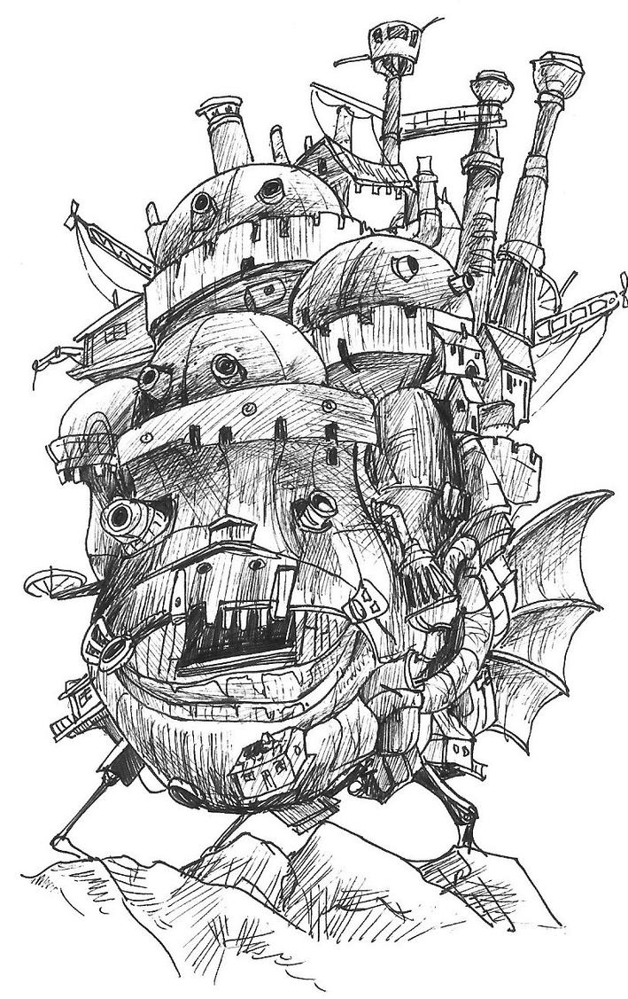Howl's Moving Castle by paper-jellyfish on DeviantArt