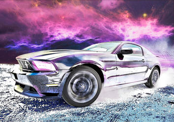 Mustang In Space by bourboncream