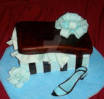 shoe box cake and sugar shoe