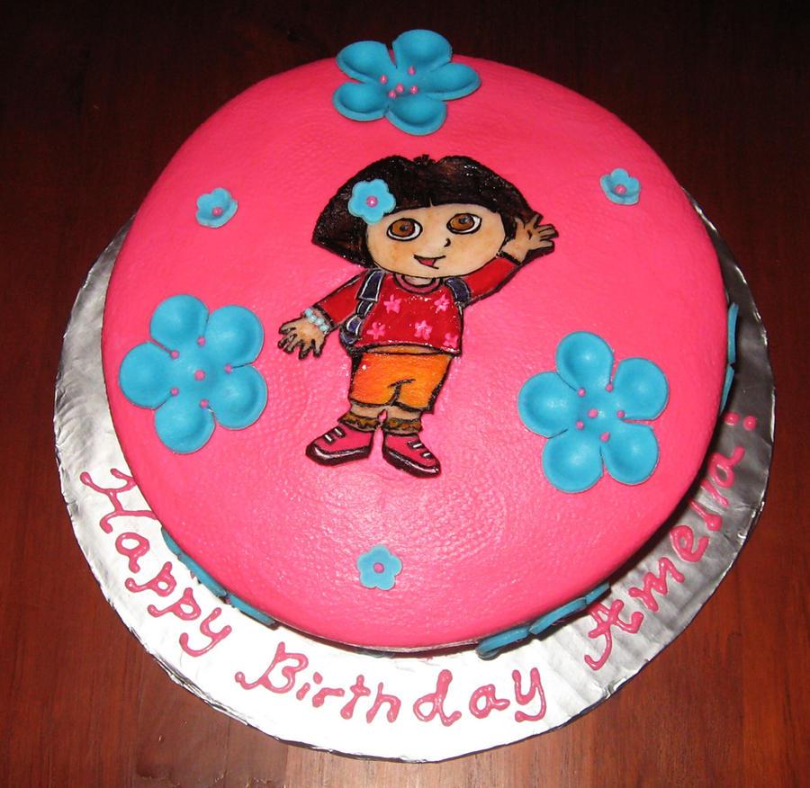 Dora cake by diullbar22 on DeviantArt