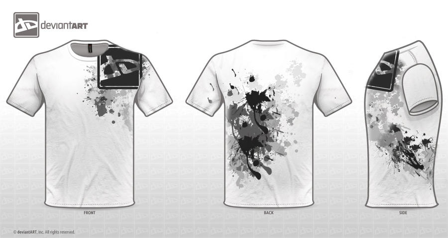 White T-shirt Design- dA logo by Fiiress
