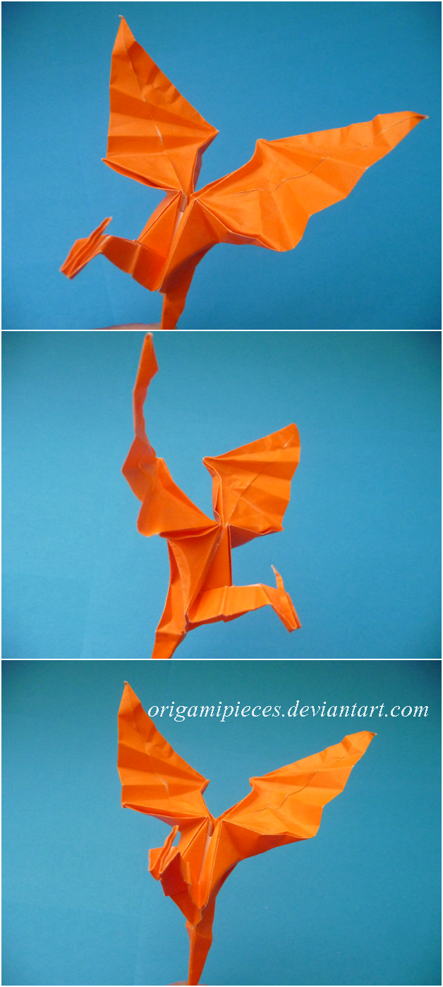 Origami Dragon by OrigamiPieces