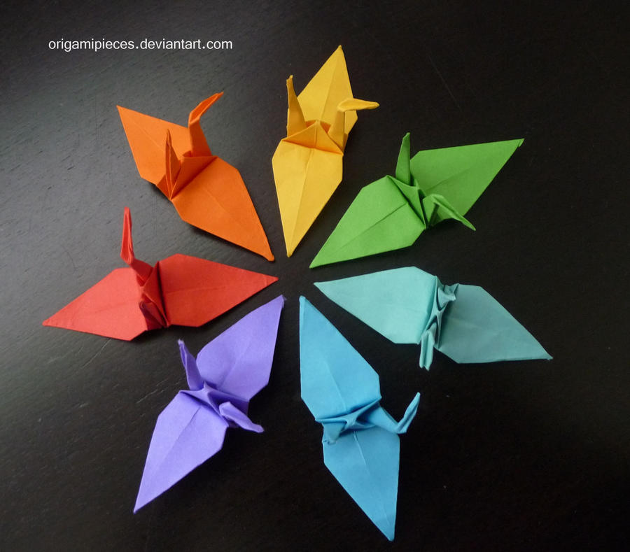 Origami Cranes by OrigamiPieces on DeviantArt