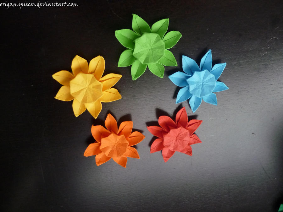Origami Sunflowers By Origamipieces On Deviantart