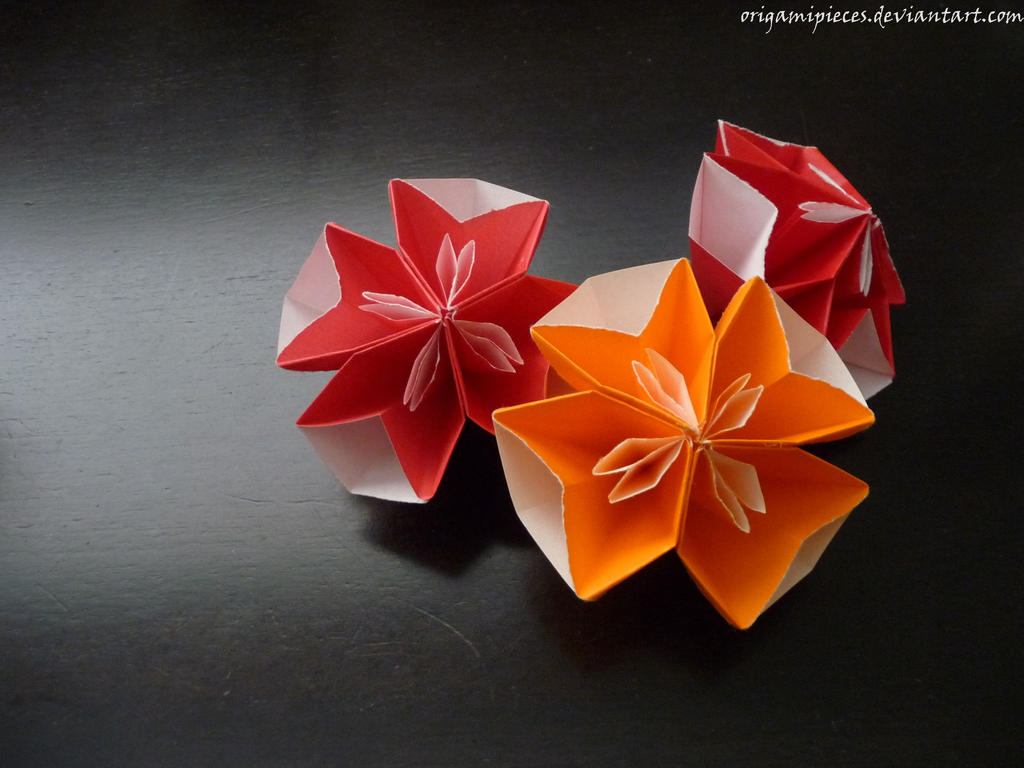 Origami Flowers by OrigamiPieces