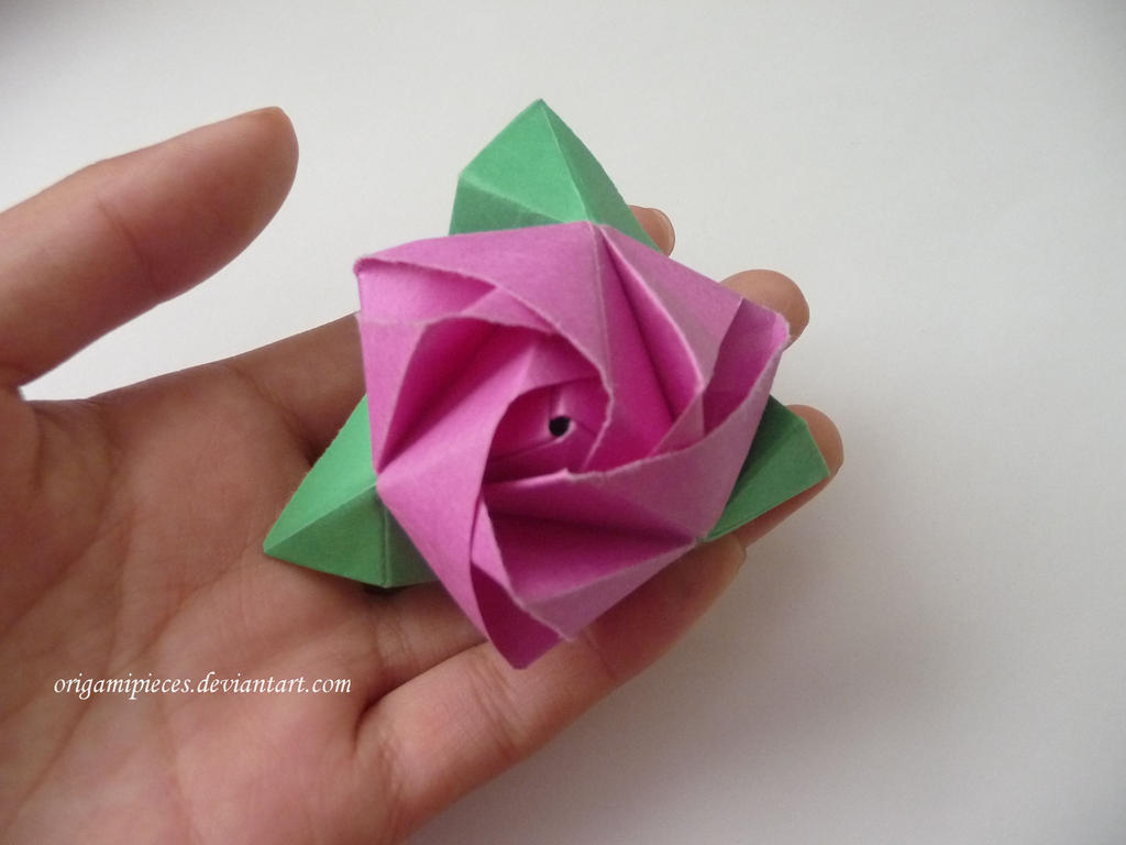 Origami Magic Rose Cube By Origamipieces On Deviantart