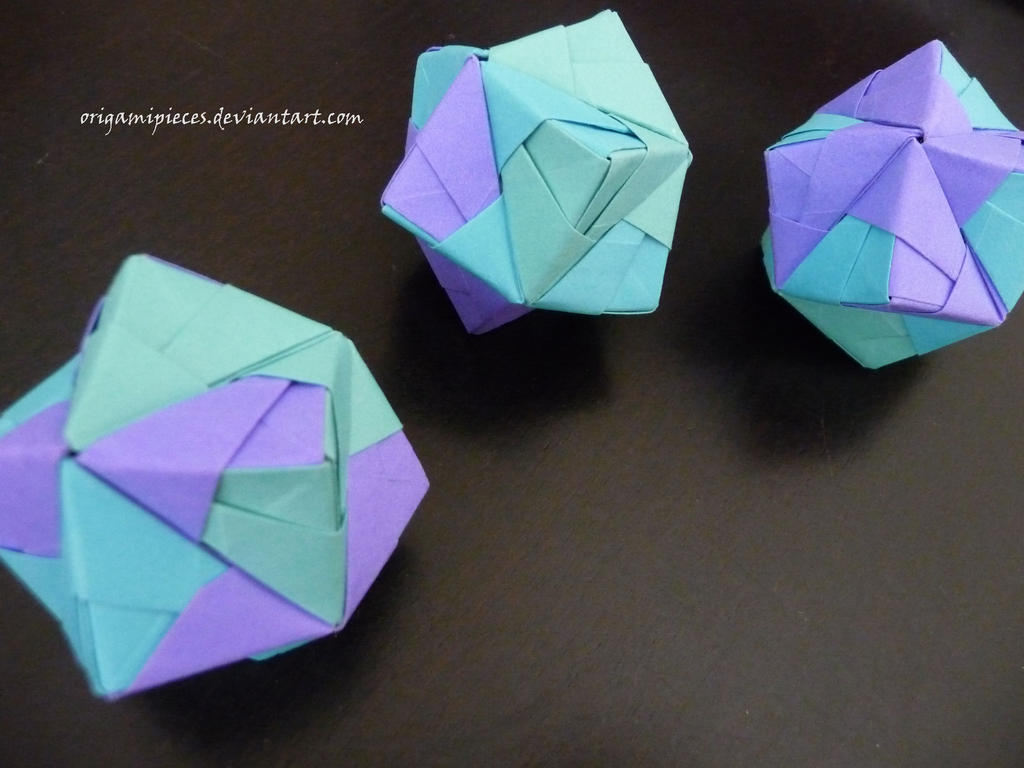 origami stellated octahedron sonobe by origamipieces on
