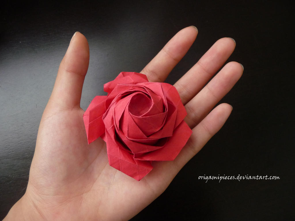ORIGAMI PENTAGON ROSE TUTORIAL (Naomiki Sato) PART 1 折り紙 バラ ... | 768x1024