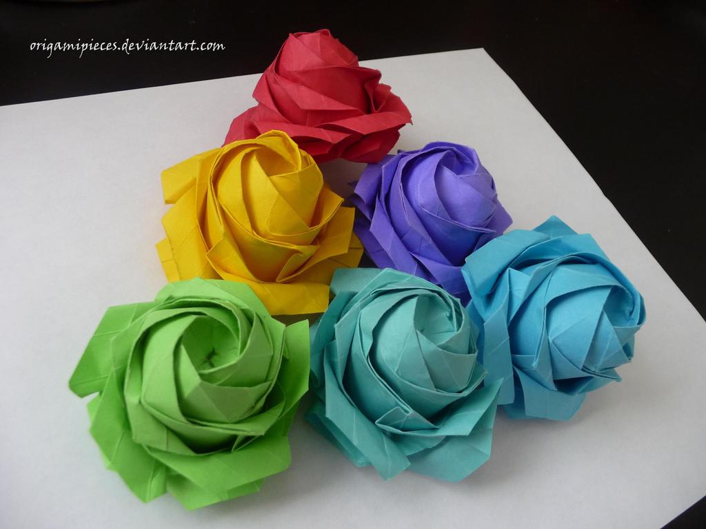 Sato Naomiki Origami Pentagon Rose By OrigamiPieces