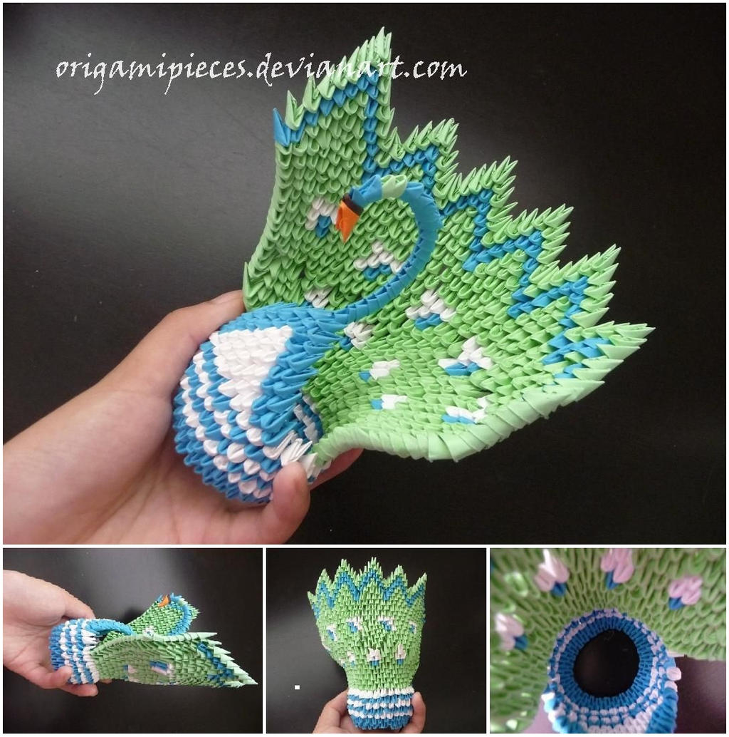 origami peacock by origamipieces on deviantart