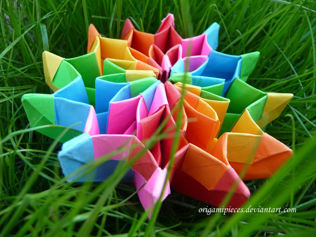 Origami Firework (Remake) by OrigamiPieces