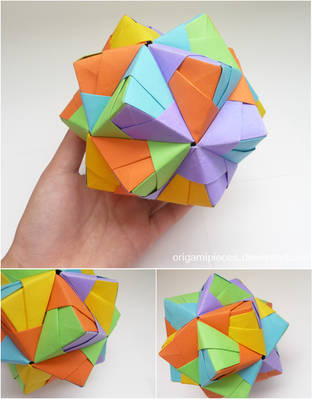 Origami Small Triambic Icosahedron by OrigamiPieces