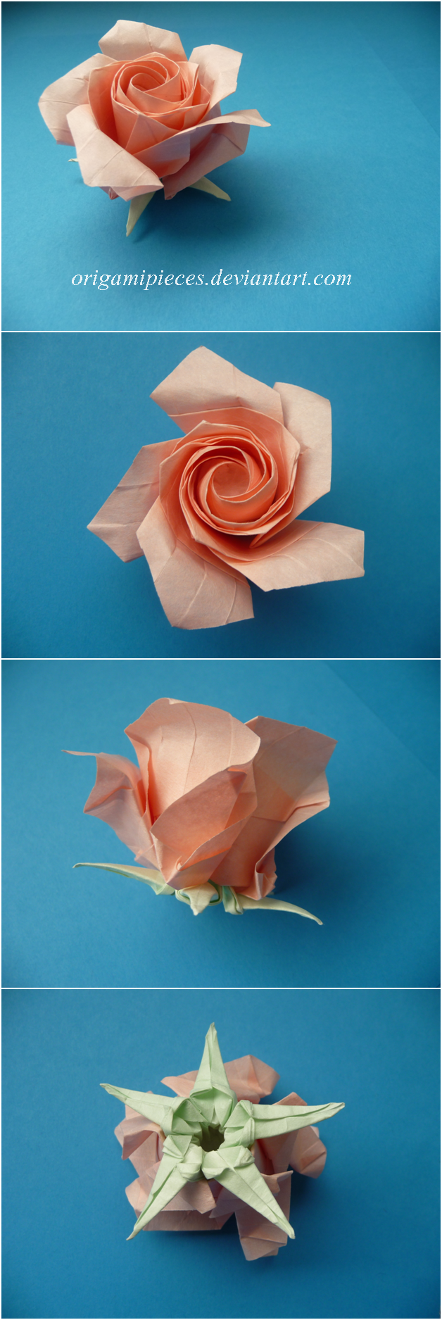 Origami Pentagon Rose By OrigamiPieces