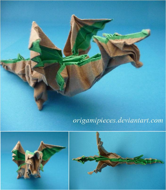 Origami Fiery Dragon ver.2 摺紙噴火飛龍第二版(Kade Chan) - YouTube | 803x704