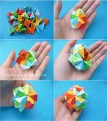 Making an Origami Small Triambic Icosahedron