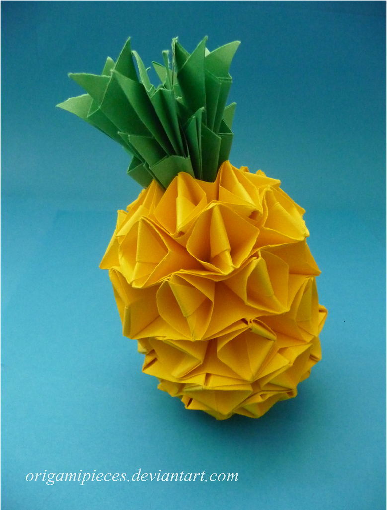 origami pineapple by origamipieces on deviantart