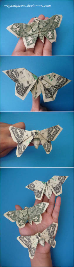 Origami Dollar Butterflies