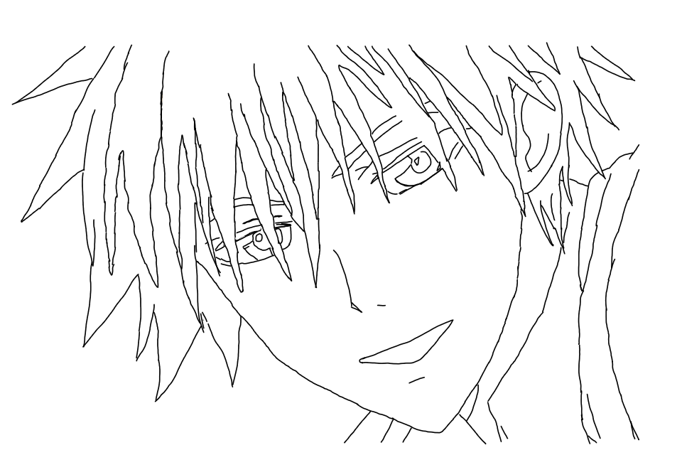 Trace drawing anime