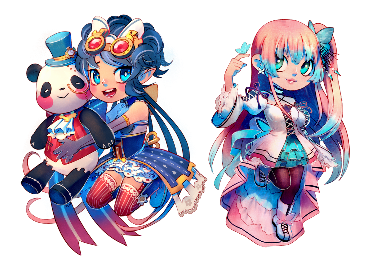 Commission: Melanie and Nadeshiko by Yufei