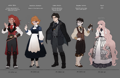 Characters concept by Yufei