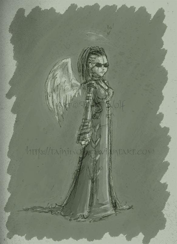 Grumpy Little Angel by tajniwolf