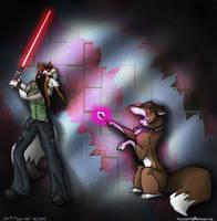 For wolfshadow10 - Duel by tajniwolf