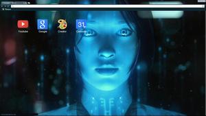 Cortana chrome theme by HarunoSakura343