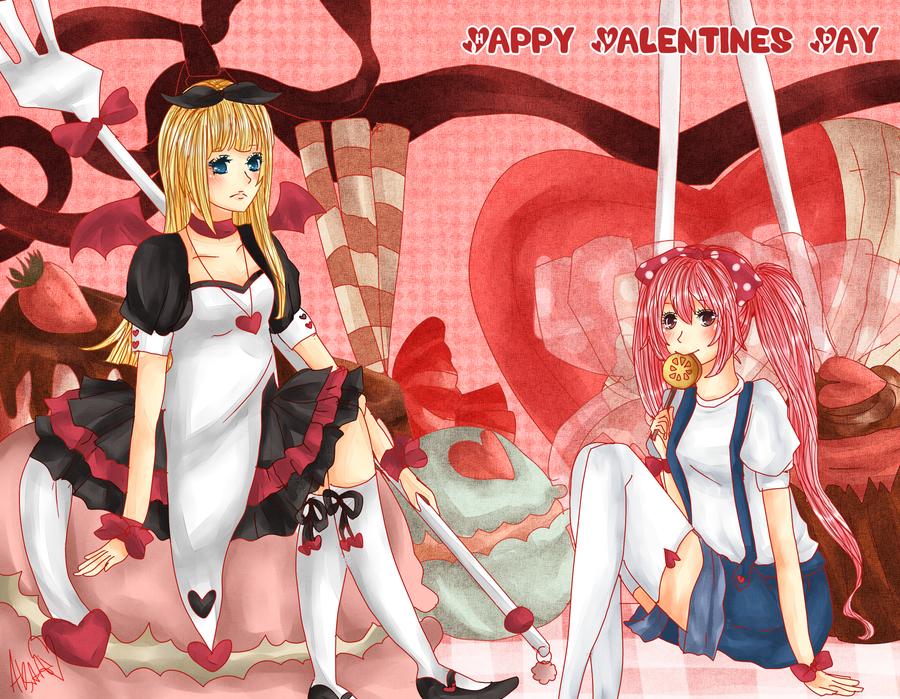 Secret Valentine 2012- hanahello by Aka-Ai