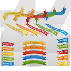 Colorful Ribbons  #1 by manka00