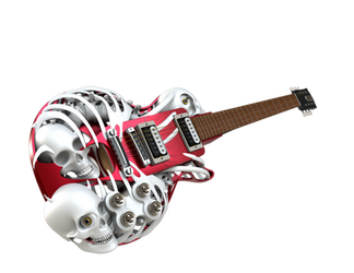 Necromuse 3D Printed Electric Guitar by Customuse