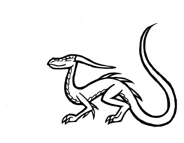 dragon outline by liiadragon7 - Dragon Outline