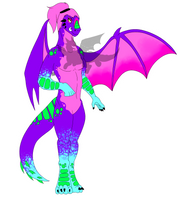KDA Akali Themed Anthro Dragon Adopt (OPEN)