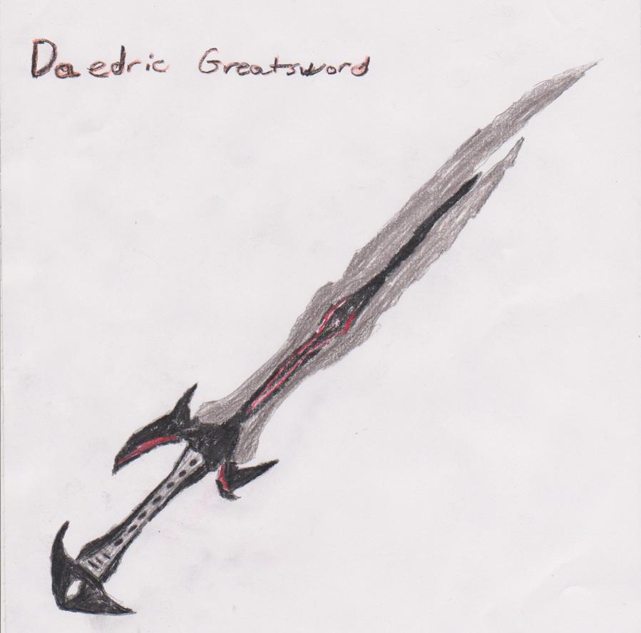 Daedric Greatsword by Jan3312 on DeviantArt