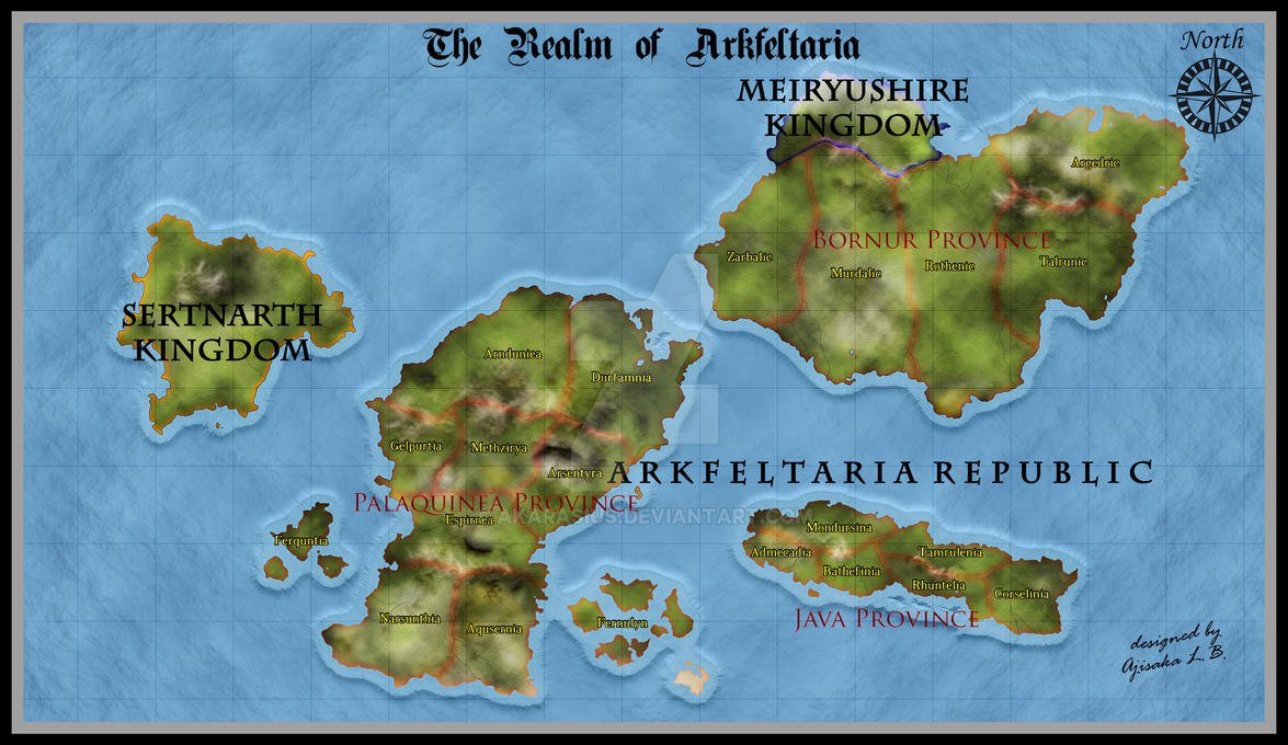 Arkfeltaria - Atlas Map Style (First Trial) by Akarasius