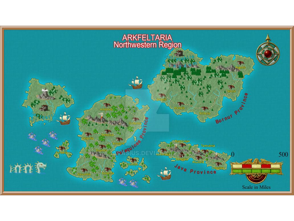 Arkfeltaria - Northwestern Regions (Second Trial) by Akarasius
