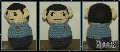 Tiny Spock Plush by SparklyStash