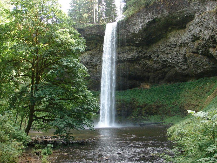 Waterfall Three by Miffliness-Stock