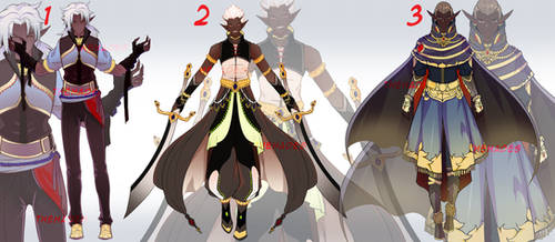 Adoptables MIX October 2019 - TAN GUYS (CLOSED) by thehades