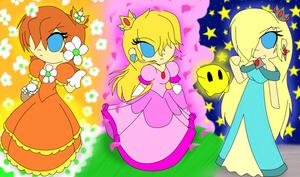 Three Chibi Princess by Crazy-Drawer101