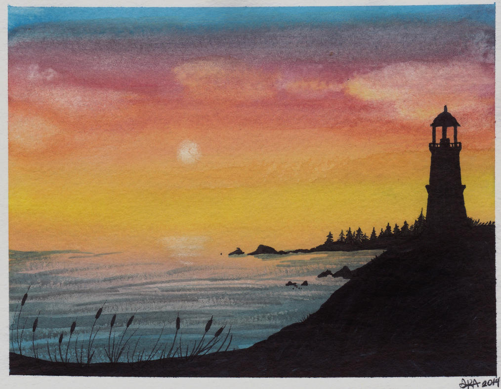 Atlantic - Watercolor Painting by CrypticGrin