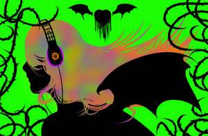 Neon Demoness by InsomniaDoodles