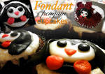 Fondant penguin cupcakes!