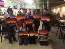 Tri-State Artisans Acryllic class group photo by InsomniaDoodles
