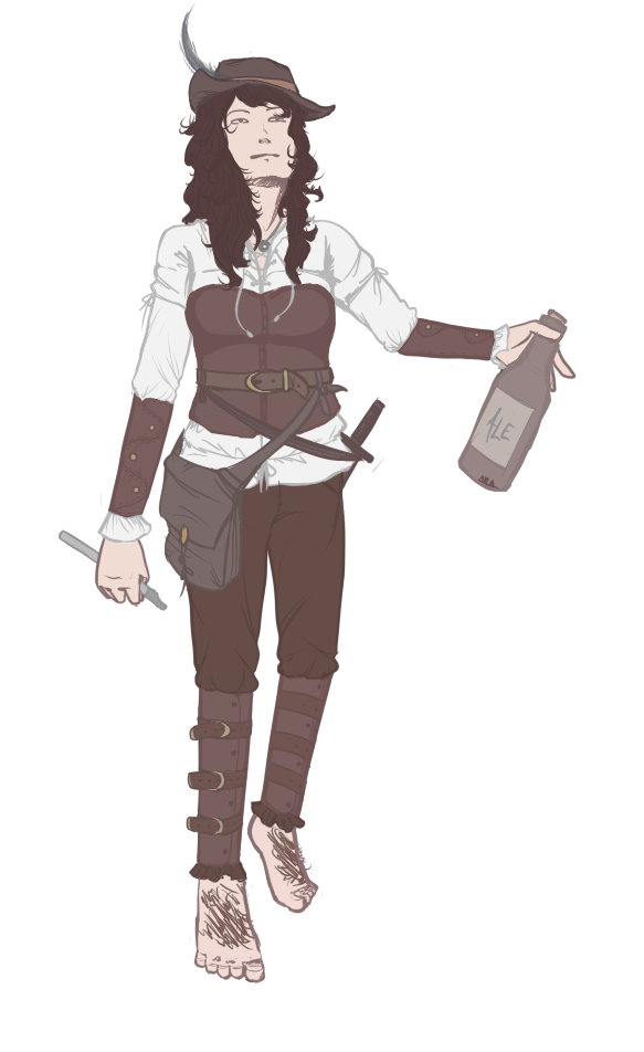 :: Rogue - Bard - Halfling :: Colored :: by CrypticGrin
