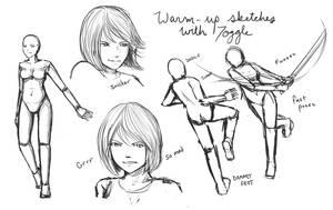 Practice sketch dump by InsomniaDoodles
