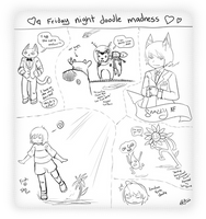 Friday Night Doodle Madness by InsomniaDoodles